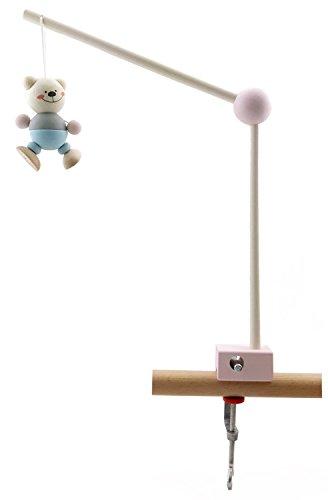 Hess 10253 - Holzspielzeug, Mobilhalter aus Holz, nature rosa