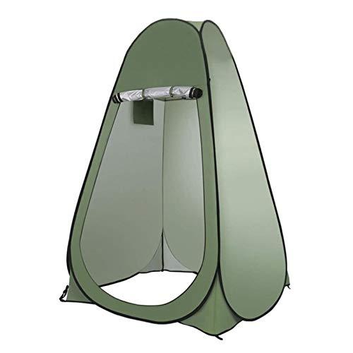 GOGOGOO 1 – 2 personas tiendas de campaña, privacidad al aire libre, baño móvil, inodoro para camping, cobertizos con bolsa de almacenamiento, puede ser impermeable y protector solar, color verde