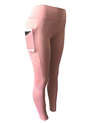 NY GOLDEN FASHION Women High Waist Compression Yoga Pants Workout Fitness Active Leggings with Pockets