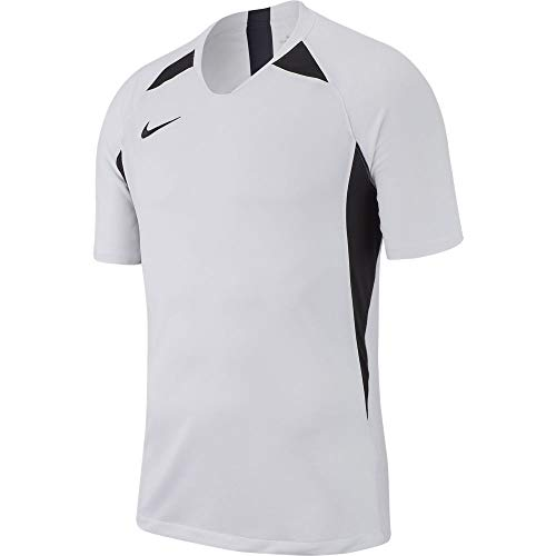 Nike Herren M NK Dry Legend JSY SS T-Shirt, White/Black, L