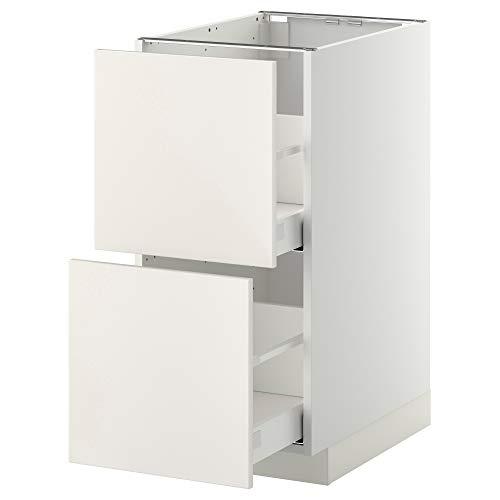 MAXIMERA/METOD base cb 2 frentes/2 cajones altos 40x61.6x88 cm blanco/Veddinge blanco