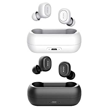 QCY T1 True Wireless Earbuds with Microphone TWS 5.0 Bluetooth Headphones,Compatible for iPhone Android and Other Leading Smartphones Black and White