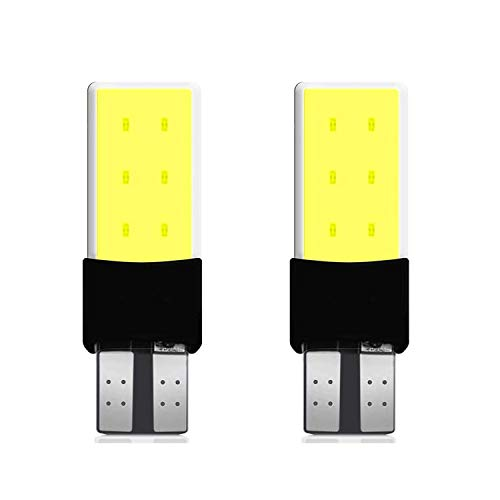 AllExtreme EXT6SCW Universal T10 LED Parking Light 6 SMD Super Bright Chipset Silicone License Plate Dome Indicator Lamp Bulb for Car Bike and Motorcycle (3W, White, 2 PCS)