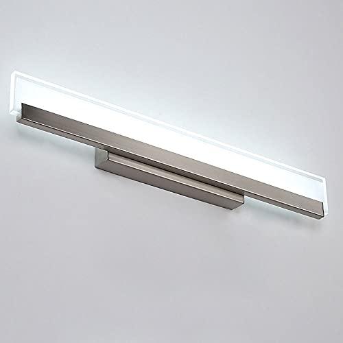 Accesorio De Iluminación LED para Tocador De Baño sobre Espejo, Lámpara Frontal De Espejo De Maquillaje con Acabado De Níquel De 18 W, Aplique Moderno De Tocador De Montaje En Pared De 22,24 Pulgadas