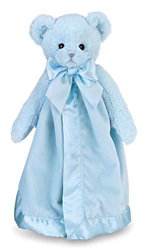 Bearington Baby Huggie Bear Snuggler, Blue Teddy Plush Stuffed Animal Security Blanket, Lovey 15'