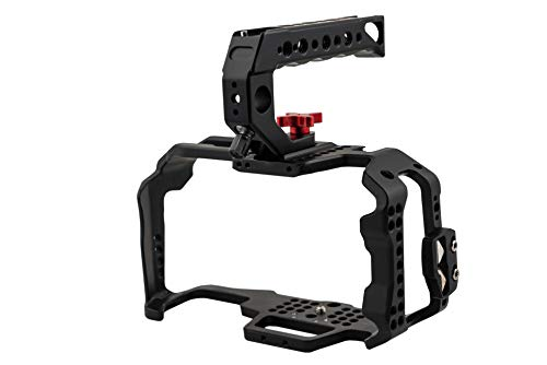 Camgear Full Cage for Blackmagic Design Pocket Cinema Camera 4k & 6k BMPCC 4k/6k with Quick Release Top Handle,HDMI Clamp
