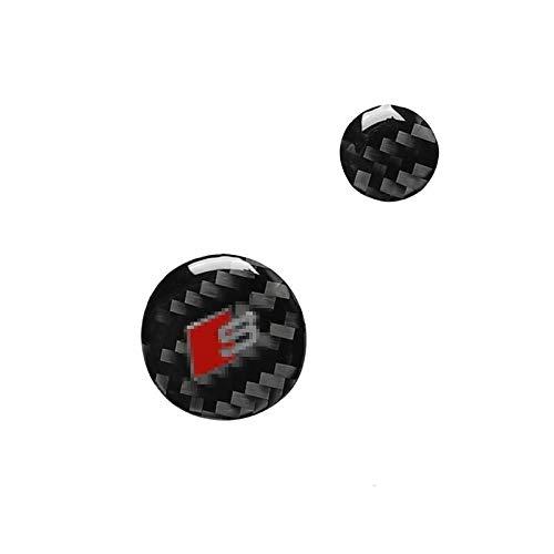 ZGYCYDLX Autopartes Accesorios para automóviles de Fibra de Carbono Interior Control Central Control Multimedia Manal DE LOS DECLARADOS Cubiertas Pegatinas de Ajuste para Audi A6 A7 2012-2018