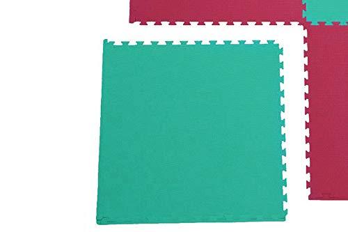 Unbekannt 1x Sportmatte Steckmatte Judomatte (0560060) rot-grün 1x1x0,02m