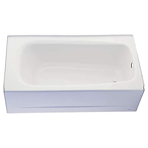American Standard 2460002.020 Cambridge Procelain-Enameled Steel 60-In X 32-In Alcove Bathtub with Left Hand Drain, 50-60 gal, White