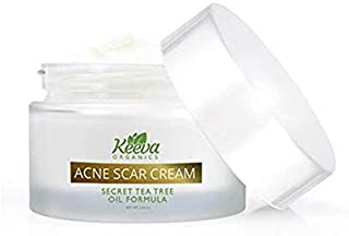 🔥 Keeva Organics 🔥 Intensive Acne Scar Removal Treatment Cream - 7X Faster Results - Secret TEA TREE OIL Organic Ingredients