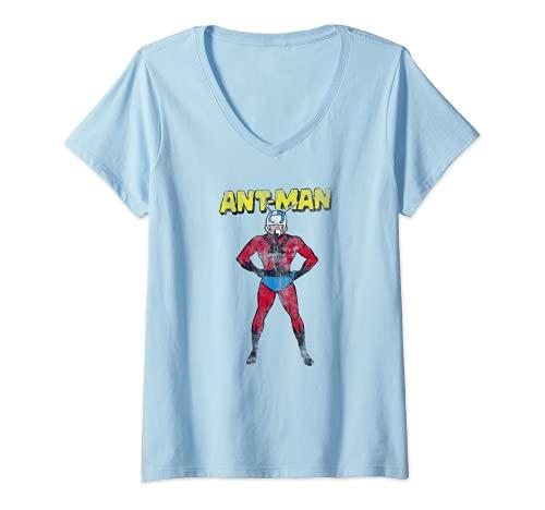 Mujer Marvel Ant-Man Superhero to the Rescue Camiseta Cuello V