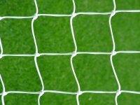 Netsportique Rete per Porta da Calcio 2,4 x 1,8m- Diametro 2mm- Interamente Rinforzata- Colore Bianco- Anti UV