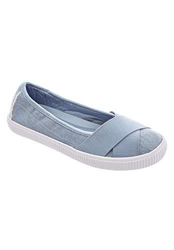 Comfortview Women's Wide Width The Jazlyn Slip-On Sneaker - 10 1/2WW, Denim