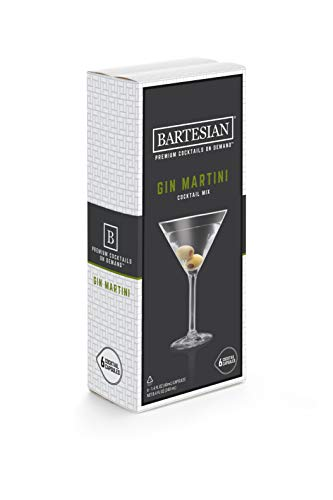 Bartesian Gin Martini Cocktail Mixer Capsules, Pack of 6...
