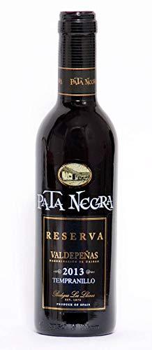 Lote de 12 Botellines Botellas Vino Pata Negra Valdepeñas Reserva 375ml - Vinos Baratos para Detalles de Bodas