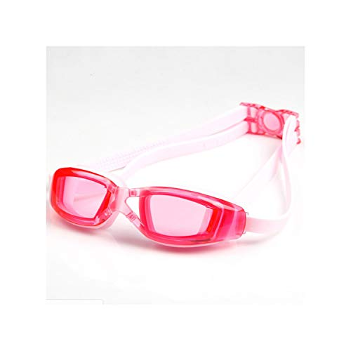 Kids Swimming Goggles UV Prescription Glasses with Case Nose Clip Earplugs for Boys Girls Children in Pools Swiming,Clear Pink