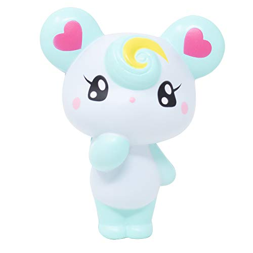 iBloom Lollipop Girl Bear Slow Rising Squishy Toy (Luna, Mint Scented, 4.7 Inch) [Kawaii Squishies for Party Favors, Stress Balls, Birthday Gifts]