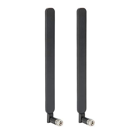 T angxi Antena de enrutador LTE de 2 Piezas, Antena SMA Masculina de 5dbi, Antena de Refuerzo Macho inalámbrica de señal de Red de enrutador 4GLTE para Huawei B593 CPE(Negro)