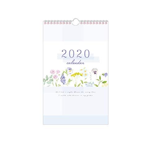 Calendarios de Pared Calendarios de Escritorio Calendario pintado a mano 2020 Año calendario de pared fresco Calendario Planificador creativas flores colgantes simple calendario de escritorio Calendar