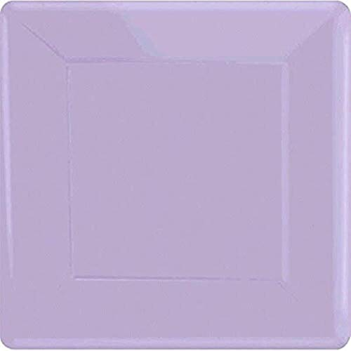 Lavender Square Paper Plates | 7' | Pack of 20 | Party Supply