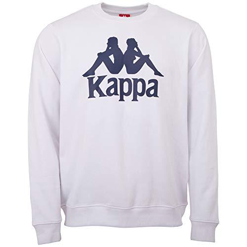 Kappa Sertum - Felpa da Uomo, Uomo, Maglia di Tuta, 703797, 001 Bianco, S