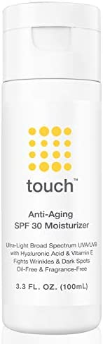 Anti Aging SPF 30 Sunscreen Moisturizer Face Cream with Vitamin C E Hyaluronic Acid Broad Spectrum product image