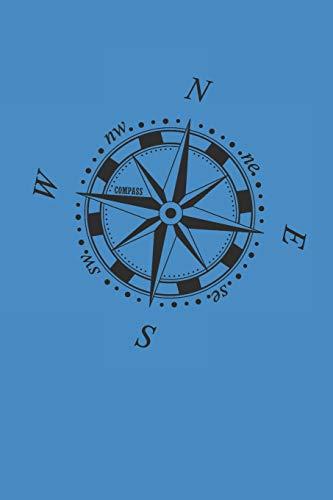 Compass: Camping Outdoor Notebook Camper dotted Notizbuch Planer 6x9 Punkteraster dot grid