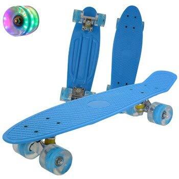 N/V 22inch Fish Board Mini Cruiser Skateboard Children Scooter Longboard Skate Boards Retro Penny Board Wheel Truck Bearings (???9)