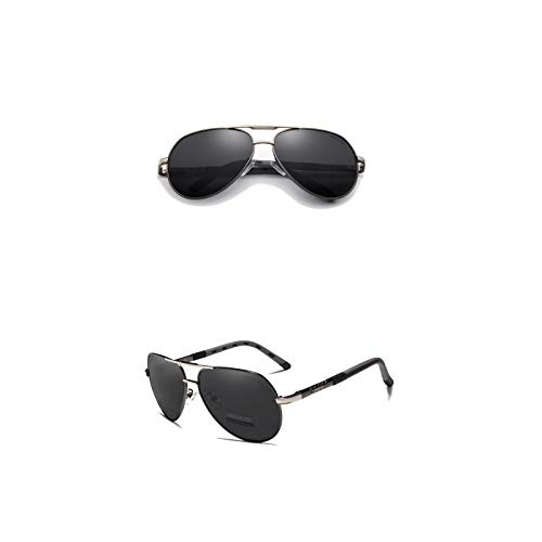 Kingseven Gafas de sol para hombre Vintage Pilot K725 - Polarizadas, UV400, ultraligeras