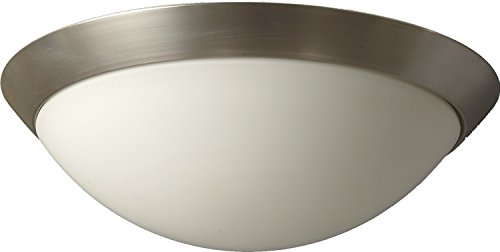 Leuchtstarke Deckenleuchte (Ø35cm, 2-flmg, Bauhaus, Weiß, farbiger Rand, Schale, Schirmleuchte) Innenlampe Glasleuchte Flurlampe Esszimmerlampe Deckenlampe