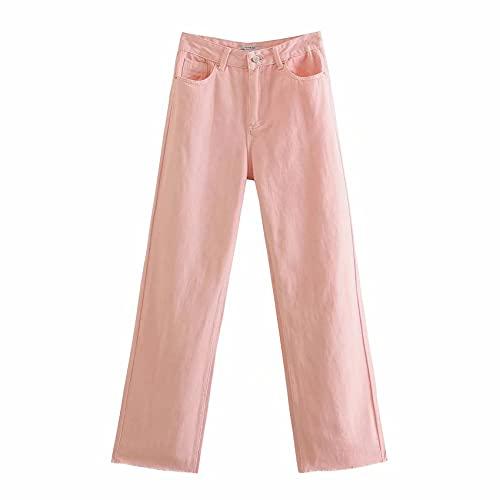 OtoñO E Invierno De Las Mujeres Nuevos Pantalones De Mezclilla De Pierna Ancha De Cintura Alta, Pantalones De Moda Multicolor