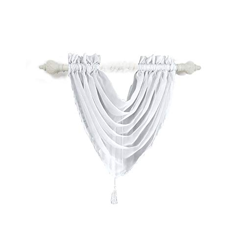 Gaoqi Voile Curtain Swags Pelmet Valance Net Curtains Voile Swag, Home Decor Easter and Eid Onsale