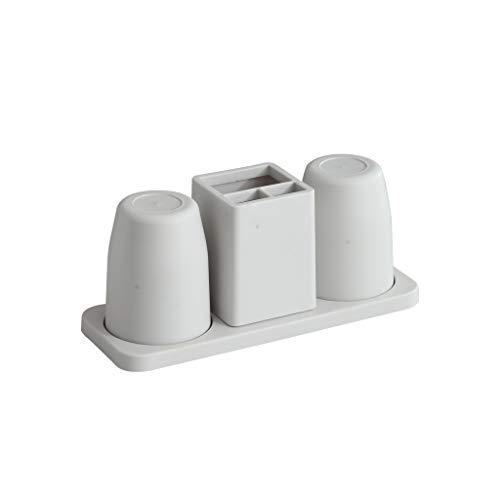 Dzwyc Porta Cepillo de Dientes Cepillo de Dientes Simple Modelos de par de Bastidor Doble Escritorio de Escritorio hogar baño Cepillo de Dientes Pasta de Dientes Conjunto de portavasos Limpio