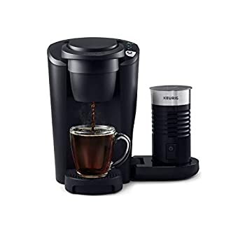 Keurig K-Latte Single Serve K-Cup Coffee and Latte Maker Comes with Milk Frother Compatible With all Keurig K-Cup Pods Matte Black