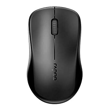 RAPOO 1680 2.4G Quiet Wireless Mouse Portable USB Receiver Long Range and Battery Life Suitable for Desktop Computers Laptops All-Day Comfort-Black