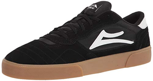 Lakai Footwear Mens mens Cambridge Skate Shoe, Black/Gum Suede, 9.5 US