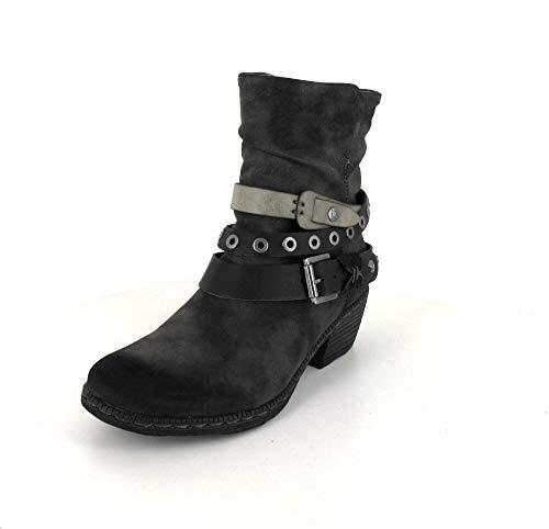Rieker-Teens Stiefel K.Stiefel in anthrazit/Black/Stein, Größe 39.0,