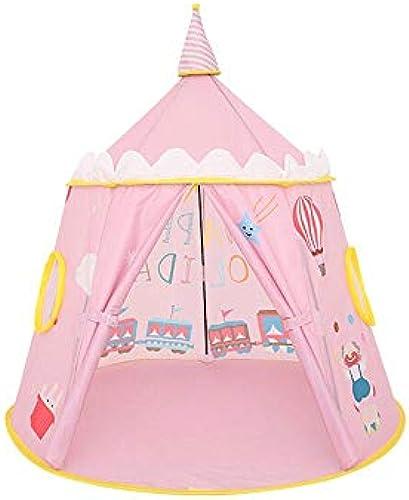 Byx- Kinderzelt Spielzelt Indoor und Outdoor Baby Spielzeug Spielhaus 125x110cm -Zelt (Farbe   Rosa)