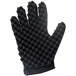 Xshuai 1PC Curl Hair Sponge Gloves for Barbers Wave Twist Brush Gloves Styling Tool For Curly Hair Styling Care Dreads Afro Deva Locs Twist Dreadlocks Coil (Right Hand)