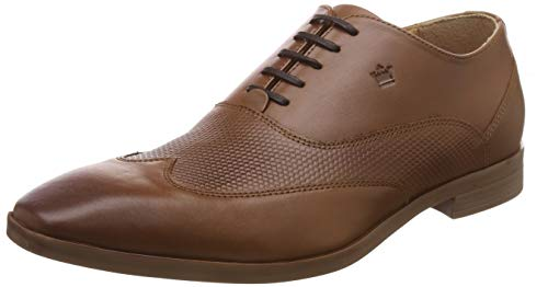 Louis Philippe Men's Brown Leather Formal Shoes