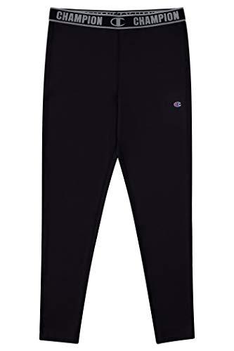 Champion Heritage Boys Base Layer Athletic Pant Cold Gear Bottom Kids Clothes (Medium, Black)