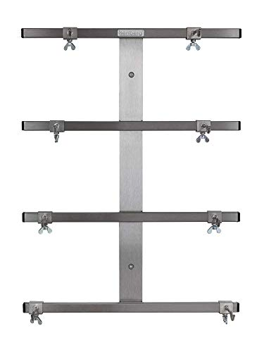 isenberg® Profi Rollholzhalterung - 4fach Wandhalterung, aus Edelstahl
