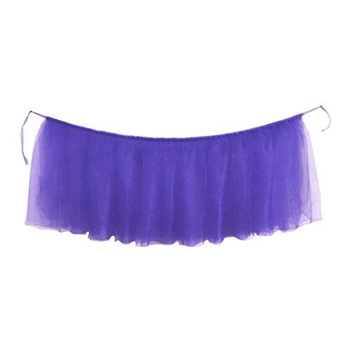 Zarupeng 1 stuks rok cover, tafelkleed met tule voor verjaardag, bruiloft, verjaardag, feestelijke party