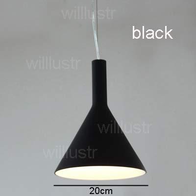 5151BuyWorld hanglamp van glas, modern licht, hotel, trompet, woonkamer, restaurant, trechter van de lamp, wit, beginners, zwart, eettafel, café, bar, hanglamp, design {}