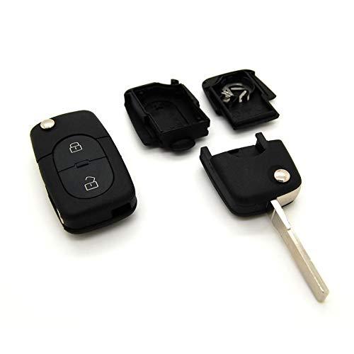 Volkswagen - Carcasa con mando a distancia para llave compatible con Volkswagen Polo, Passat y Golf 3, 4, 5 y 6 (2 botones)