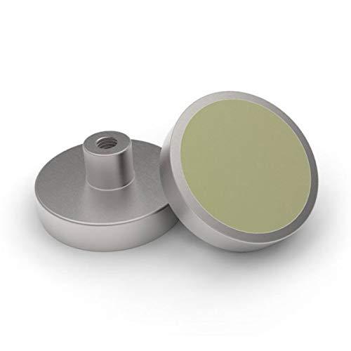 Samarium Cobalt platte grijper, SmCo Ø 10 x 4,5 mm, met schroefdraadaansluiting, verzinkt