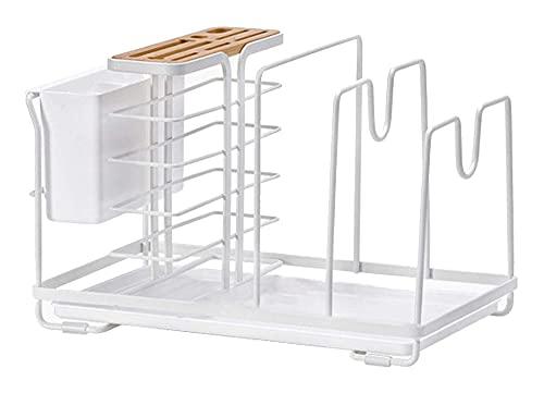 universal para cuchillos CUCHILLO BLOQUE CUCHILLO CUCHILLO CUCHILLO Tenedor de metal, soporte de tabla de cortar, 4 en 1 Organizador de almacenamiento de cocina, almacenamiento en encimera de cocina,