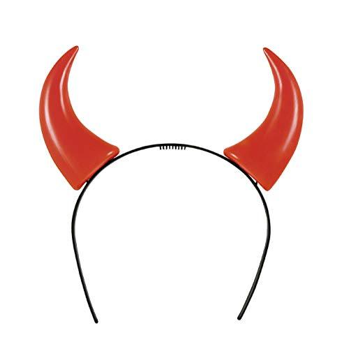 Boland- Tiara Cerchietto Corna Diavoletta per Adulti, Rosso, Unica Taglia, 97015