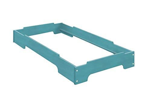 BioKinder 24020 Kai Cama apila Azul 70x140. Madera de Pino Biológica. 1 Cama