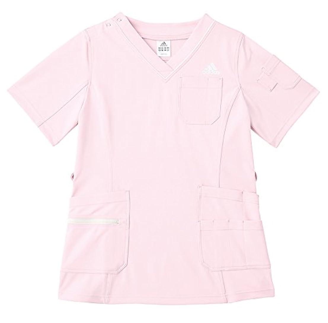 おばあさん遵守する動的医療/介護ユニフォーム レディススクラブ アディダス ピンク サイズ:M  KAZEN SMS009-13